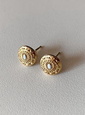 antique Mini coin earring