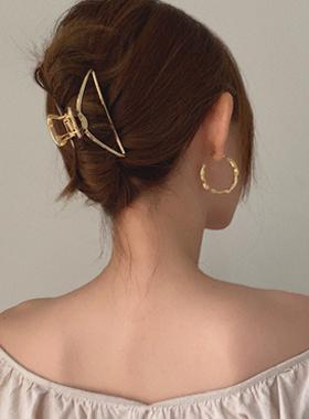 Arch metal raised hair clip